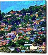 Yauco On The Hill Canvas Print