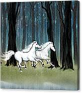 Year Of The Wood Horse Canvas Print