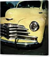 Yellow 47 Chevrolet Canvas Print