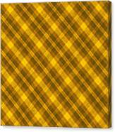Yellow And Brown Diagonal Plaid Pattern Cloth Background Canvas Print