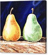 Yellow And Green Pear Canvas Print
