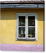 Yellow And Pink Facade. Belgrade. Serbia Canvas Print