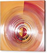 Yellow And Red Abstraction Canvas Print