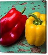 Yellow And Red Bell Pepper Canvas Print