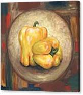 Yellow Bell Peppers Canvas Print