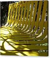Yellow Bench Canvas Print