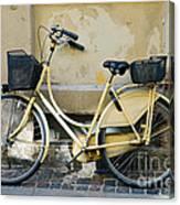 Yellow Bicycle In Copenhagen Canvas Print