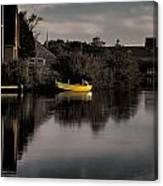Yellow Boat Canvas Print
