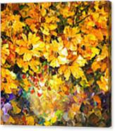Yellow Bouquet - Palette Knife Oil Painting On Canvas By Leonid Afremov Canvas Print