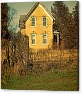 Yellow Brick Farmhouse Canvas Print