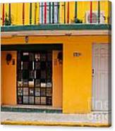 Yellow Buidling Mexico Canvas Print