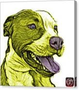 Yellow Bull Fractal Pop Art - 7773 - F - Wb Canvas Print