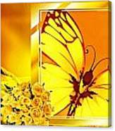 Yellow Butterfly Canvas Print