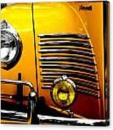 Yellow Cab Frontal Canvas Print