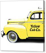 Yellow Cab Square Canvas Print