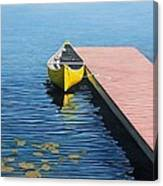 Yellow Canoe Canvas Print
