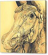 Yellow Carousel Horse Canvas Print