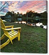 Yellow Chair Canvas Print