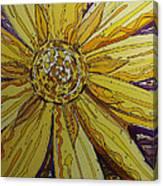 Yellow Chakra Canvas Print