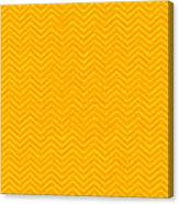 Yellow Chevron Waves Canvas Print