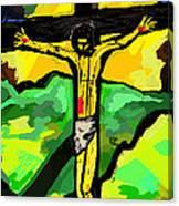 Yellow Christ  After Gauguin Canvas Print