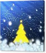 Yellow Christmas Tree Canvas Print