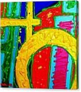 Yellow Circle Canvas Print
