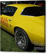 Yellow Classic Car Diablo At The Show Canvas Print