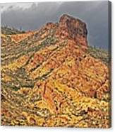 Yellow Colored Rock Along The Apache Trail Canvas Print