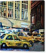 Yellow Congestion Canvas Print