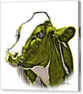 Yellow Cow Holstein - 0034 Fs Canvas Print