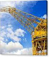 Yellow Crane And Sky Canvas Print