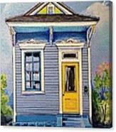 Yellow Door Shotgun  Canvas Print