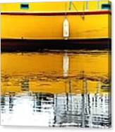 Yellow Drift Canvas Print
