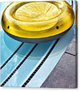 Yellow Float Palm Springs Canvas Print