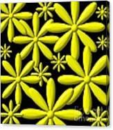 Yellow Flower Power 3d Digital Art Canvas Print