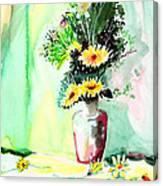 Yellow Flowers 1 Canvas Print