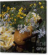 Yellow And White Flowers Canvas Print