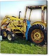 Yellow Ford Tractor Canvas Print