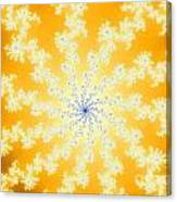Yellow Fractal Canvas Print