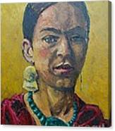 Yellow Frida Canvas Print