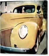 Yellow Gangsta Street Rod Canvas Print