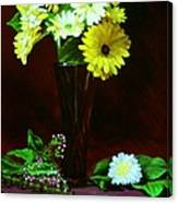 Yellow Gerbera Canvas Print