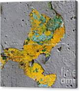 Yellow Graffiti Canvas Print