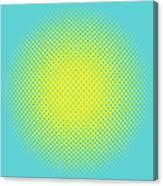 Optical Illusion - Yellow On Aqua Canvas Print
