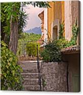 Yellow House In Eze France Canvas Print