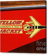 Yellow Jacket Outboard Boat Canvas Print