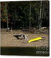 Yellow Kayak Canvas Print