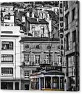 Yellow Lisbon Trolley Canvas Print