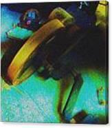 Yellow Machine Canvas Print